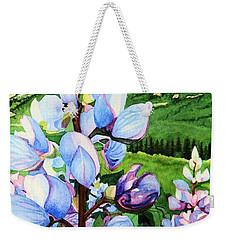 Colorado Summer Blues Close-up Weekender Tote Bag by Barbara Jewell