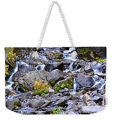 Colorado Waterfall Mountain Stream Weekender Tote Bag by Andrea Hazel Ihlefeld