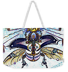 Colored Cultural Zoo B Sacred Scarab Weekender Tote Bag