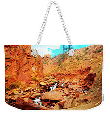 Colored Falls Weekender Tote Bag