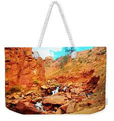 Colored Falls Weekender Tote Bag