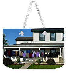 Colorful Amish Laundry On Porch Weekender Tote Bag