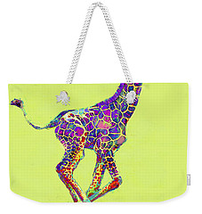 Colorful Baby Giraffe Weekender Tote Bag