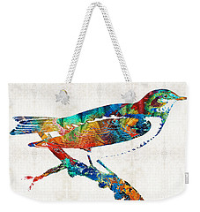 Colorful Bird Art - Sweet Song - By Sharon Cummings Weekender Tote Bag