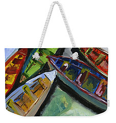 Colorful Boats Weekender Tote Bag