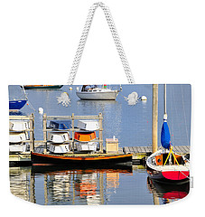 Colorful Boats Rockland Maine Weekender Tote Bag by Marianne Campolongo
