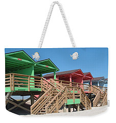 Colorful Cabanas Weekender Tote Bag