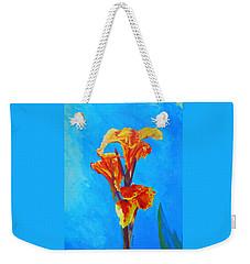 Colorful Canna Weekender Tote Bag