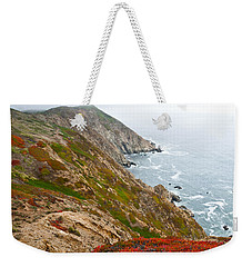 Weekender Tote Bag featuring the photograph Colorful Cliffs At Point Reyes by Jeff Goulden