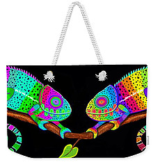 Colorful Companions Weekender Tote Bag by Nick Gustafson