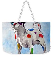Colorful Dalmatian Chihuahua Weekender Tote Bag