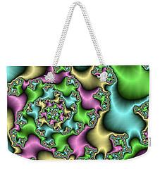 Weekender Tote Bag featuring the digital art Colorful Depth by Gabiw Art