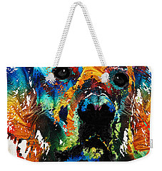 Colorful Dog Art - Heart And Soul - By Sharon Cummings Weekender Tote Bag