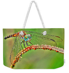 Colorful Dragonfly Weekender Tote Bag by Myrna Bradshaw