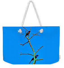 Weekender Tote Bag featuring the photograph Colorful Duet by Zafer Gurel