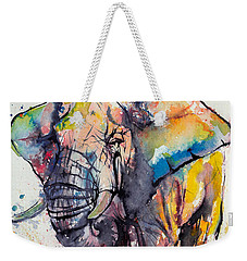 Colorful Elephant Weekender Tote Bag