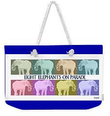 Pastel Elephants On Parade Weekender Tote Bag