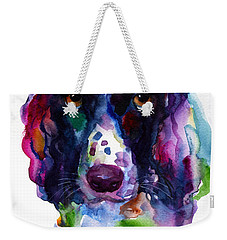 Colorful English Springer Setter Spaniel Dog Portrait Art Weekender Tote Bag