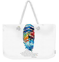 Colorful Feather Art - Cherokee Blessing - By Sharon Cummings Weekender Tote Bag