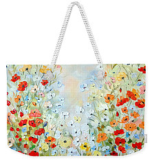 Colorful Field Of Poppies Weekender Tote Bag by Dorothy Maier