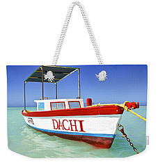 Colorful Fishing Boat Of The Caribbean  Weekender Tote Bag