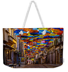 Colorful Floating Umbrellas Weekender Tote Bag