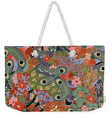 colorful floral art - Earthly Delights Weekender Tote Bag