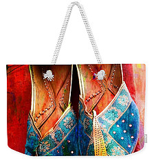 Colorful Footwear Juttis Sales Jaipur Rajasthan India Weekender Tote Bag