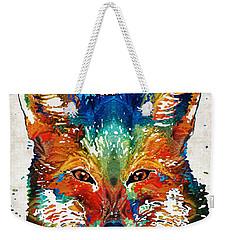 Colorful Fox Art - Foxi - By Sharon Cummings Weekender Tote Bag