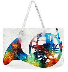 Colorful French Horn - Color Fusion By Sharon Cummings Weekender Tote Bag