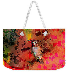 Colorful Hummingbird Weekender Tote Bag