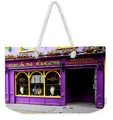 Colorful Irish Pub Weekender Tote Bag