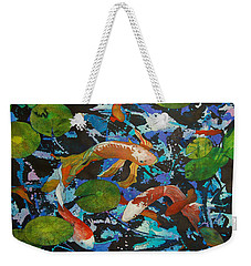 Colorful Koi Weekender Tote Bag