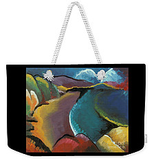 colorful abstract oil painting - Rocky Beach Weekender Tote Bag