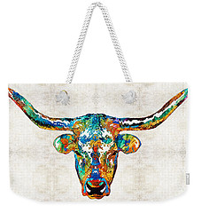 Colorful Longhorn Art By Sharon Cummings Weekender Tote Bag by Sharon Cummings