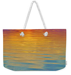 Colorful Lowtide Sunset Weekender Tote Bag