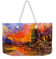 Colorful Night.. Weekender Tote Bag