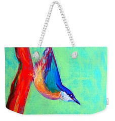 Colorful Nuthatch Bird Weekender Tote Bag