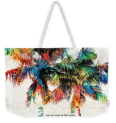 Colorful Palm Trees - Returning Home - By Sharon Cummings Weekender Tote Bag