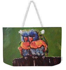 Colorful Parrots Weekender Tote Bag