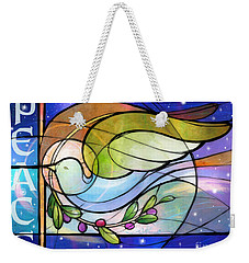 Colorful Peace Dove Weekender Tote Bag