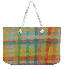 Colorful Plaid Weekender Tote Bag