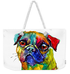 Colorful Pug Dog Painting  Weekender Tote Bag