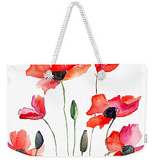 Colorful Red Flowers Weekender Tote Bag