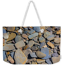 Colorful River Rocks Weekender Tote Bag by Photographic Arts And Design Studio