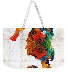 Colorful Seahorse Art By Sharon Cummings Weekender Tote Bag by Sharon Cummings