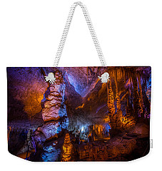 Colorful Stalactite Cave Weekender Tote Bag
