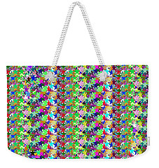 Weekender Tote Bag featuring the photograph Colorful Star Graphics Decorations by Navin Joshi