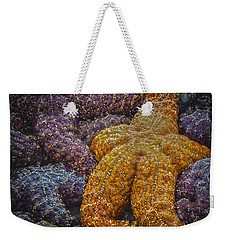 Colorful Starfish Weekender Tote Bag