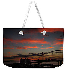 Weekender Tote Bag featuring the photograph Colorful Sunset by Jane Luxton